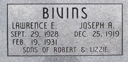 BIVINS, JOSEPH A. - Pemiscot County, Missouri | JOSEPH A. BIVINS - Missouri Gravestone Photos