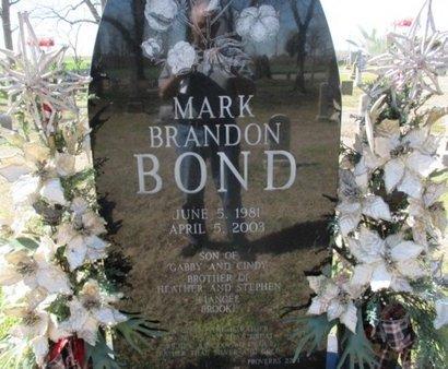 BOND, MARK BRANDON - Pemiscot County, Missouri | MARK BRANDON BOND - Missouri Gravestone Photos