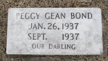 BOND, PEGGY GEAN - Pemiscot County, Missouri   PEGGY GEAN BOND - Missouri Gravestone Photos