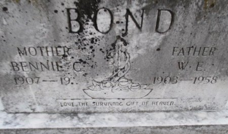 BOND, WILLIAM ELLARD - Pemiscot County, Missouri | WILLIAM ELLARD BOND - Missouri Gravestone Photos