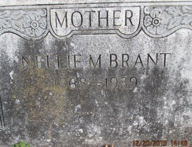 WESTMAN BRANT, NELLIE MAY - Pemiscot County, Missouri | NELLIE MAY WESTMAN BRANT - Missouri Gravestone Photos