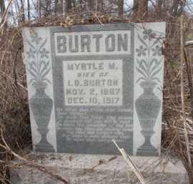 BURTON, MYRTLE M. - Pemiscot County, Missouri | MYRTLE M. BURTON - Missouri Gravestone Photos