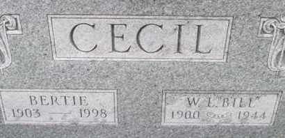 "CECIL, W. F. ""BILL"" - Pemiscot County, Missouri | W. F. ""BILL"" CECIL - Missouri Gravestone Photos"