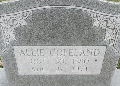CURTIS COPELAND, ALLIE D - Pemiscot County, Missouri | ALLIE D CURTIS COPELAND - Missouri Gravestone Photos