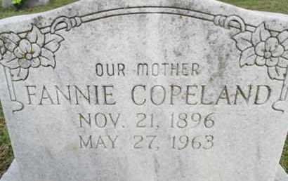 COPELAND, FANNIE - Pemiscot County, Missouri | FANNIE COPELAND - Missouri Gravestone Photos