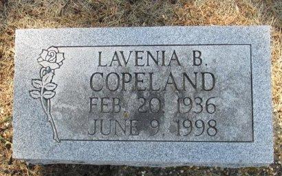 COPELAND, LAVENIA BERNICE - Pemiscot County, Missouri | LAVENIA BERNICE COPELAND - Missouri Gravestone Photos