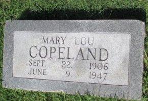 COPELAND, MARY LOU - Pemiscot County, Missouri   MARY LOU COPELAND - Missouri Gravestone Photos