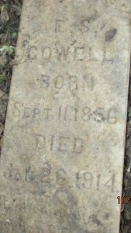 COWELL, EDWARD SLATER CLOSE UP - Pemiscot County, Missouri   EDWARD SLATER CLOSE UP COWELL - Missouri Gravestone Photos