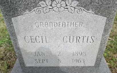 CURTIS, CECIL - Pemiscot County, Missouri | CECIL CURTIS - Missouri Gravestone Photos