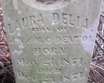 DENTON, LAURA DELIA - Pemiscot County, Missouri | LAURA DELIA DENTON - Missouri Gravestone Photos