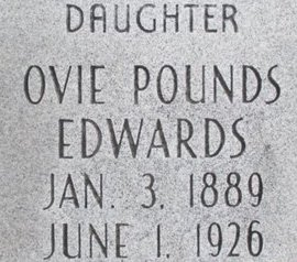 POUNDS EDWARDS, OVIE - Pemiscot County, Missouri | OVIE POUNDS EDWARDS - Missouri Gravestone Photos