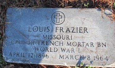 FRAZIER, LOUIS VETERAN - Pemiscot County, Missouri | LOUIS VETERAN FRAZIER - Missouri Gravestone Photos