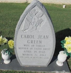 GREEN, CAROL JEAN - Pemiscot County, Missouri | CAROL JEAN GREEN - Missouri Gravestone Photos