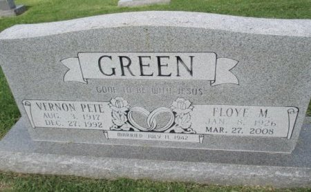 GREEN, VERNON PETE - Pemiscot County, Missouri | VERNON PETE GREEN - Missouri Gravestone Photos