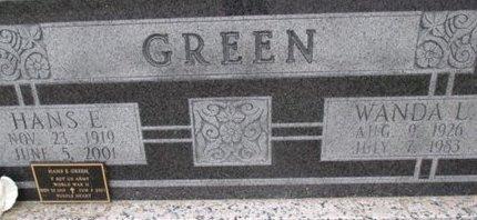 GREEN, HANS E. - Pemiscot County, Missouri | HANS E. GREEN - Missouri Gravestone Photos