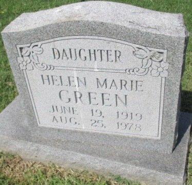 GREEN, HELEN MARIE - Pemiscot County, Missouri   HELEN MARIE GREEN - Missouri Gravestone Photos