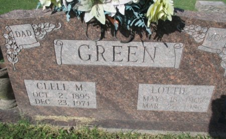 GREEN, CLELL M. - Pemiscot County, Missouri | CLELL M. GREEN - Missouri Gravestone Photos