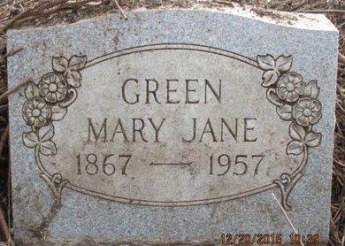 GREEN, MARY JANE - Pemiscot County, Missouri | MARY JANE GREEN - Missouri Gravestone Photos