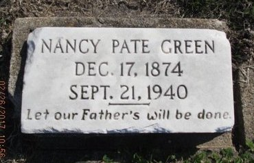 GREEN, NANCY PATE - Pemiscot County, Missouri | NANCY PATE GREEN - Missouri Gravestone Photos