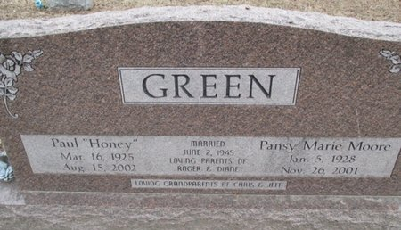 GREEN, PANSY MARIE - Pemiscot County, Missouri | PANSY MARIE GREEN - Missouri Gravestone Photos