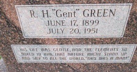 "GREEN, R. H. ""GENT"" - Pemiscot County, Missouri | R. H. ""GENT"" GREEN - Missouri Gravestone Photos"