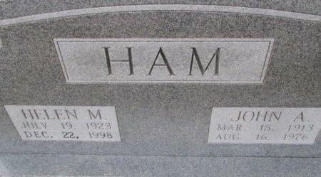 HAM, JOHN A. - Pemiscot County, Missouri | JOHN A. HAM - Missouri Gravestone Photos