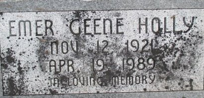HOLLY, EMER GEENE - Pemiscot County, Missouri | EMER GEENE HOLLY - Missouri Gravestone Photos