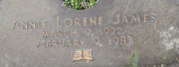JAMES, ANNIE LORENE - Pemiscot County, Missouri | ANNIE LORENE JAMES - Missouri Gravestone Photos