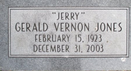 "JONES, GERALD VERNON ""JERRY"" - Pemiscot County, Missouri | GERALD VERNON ""JERRY"" JONES - Missouri Gravestone Photos"
