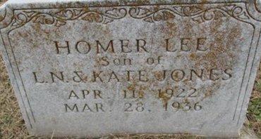 JONES, HOMER LEE - Pemiscot County, Missouri | HOMER LEE JONES - Missouri Gravestone Photos