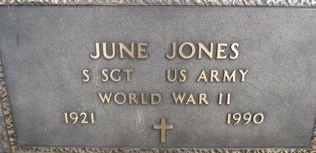 JONES, JUNE VETERAN WWII - Pemiscot County, Missouri | JUNE VETERAN WWII JONES - Missouri Gravestone Photos