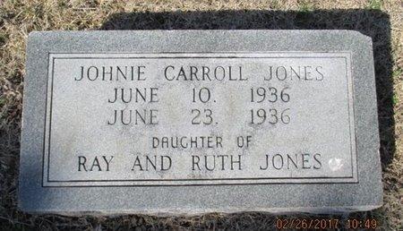JONES, JOHNIE CARROLL - Pemiscot County, Missouri | JOHNIE CARROLL JONES - Missouri Gravestone Photos