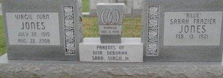 JONES, VIRGIL IVAN - Pemiscot County, Missouri | VIRGIL IVAN JONES - Missouri Gravestone Photos