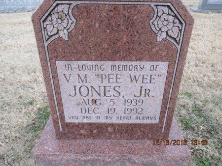 "JONES, VERNON M. JR. ""PEEWEE"" - Pemiscot County, Missouri | VERNON M. JR. ""PEEWEE"" JONES - Missouri Gravestone Photos"