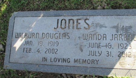 JONES, WILBURN DOUGLAS - Pemiscot County, Missouri | WILBURN DOUGLAS JONES - Missouri Gravestone Photos