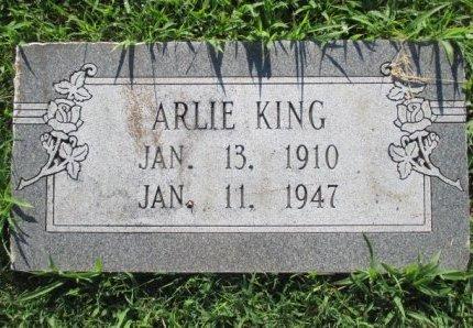 KING, ARLIE - Pemiscot County, Missouri   ARLIE KING - Missouri Gravestone Photos