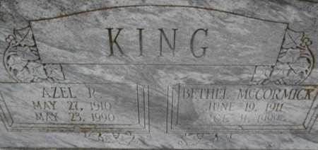 KING, AZEL R. - Pemiscot County, Missouri | AZEL R. KING - Missouri Gravestone Photos