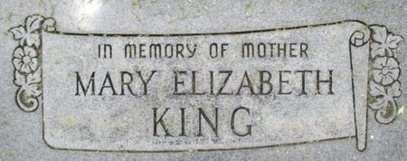 CHOATE KING, MARY ELIZABETH - Pemiscot County, Missouri | MARY ELIZABETH CHOATE KING - Missouri Gravestone Photos