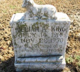 KING, WILLIAM A. - Pemiscot County, Missouri   WILLIAM A. KING - Missouri Gravestone Photos