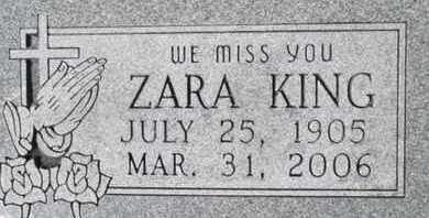 KING, ZARA MOSE - Pemiscot County, Missouri | ZARA MOSE KING - Missouri Gravestone Photos