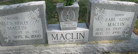 "MACLIN, EARL ""GOAT"" - Pemiscot County, Missouri | EARL ""GOAT"" MACLIN - Missouri Gravestone Photos"