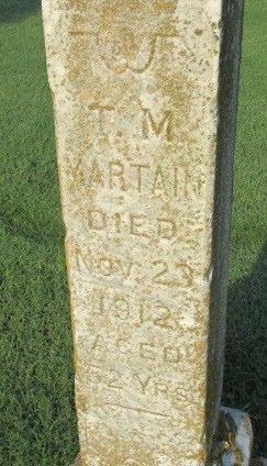 MARTIN, THOMAS M - Pemiscot County, Missouri   THOMAS M MARTIN - Missouri Gravestone Photos
