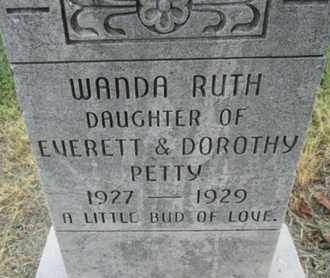 PETTY, WANDA RUTH - Pemiscot County, Missouri | WANDA RUTH PETTY - Missouri Gravestone Photos