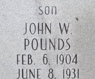 POUNDS, JOHN W. - Pemiscot County, Missouri   JOHN W. POUNDS - Missouri Gravestone Photos