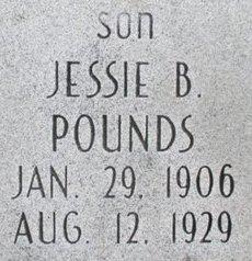 POUNDS, JESSIE B. - Pemiscot County, Missouri   JESSIE B. POUNDS - Missouri Gravestone Photos
