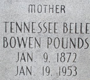POUNDS, TENNESSEE BELLE - Pemiscot County, Missouri | TENNESSEE BELLE POUNDS - Missouri Gravestone Photos