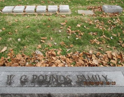 POUNDS, W. G. FAMILY PLOT - Pemiscot County, Missouri | W. G. FAMILY PLOT POUNDS - Missouri Gravestone Photos