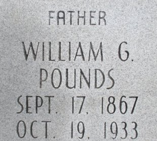 POUNDS, WILLIAM G. - Pemiscot County, Missouri   WILLIAM G. POUNDS - Missouri Gravestone Photos
