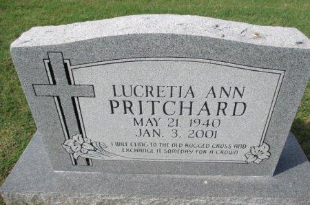 PRITCHARD, LUCRETIA ANN - Pemiscot County, Missouri | LUCRETIA ANN PRITCHARD - Missouri Gravestone Photos