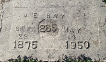 RAY, J. E. - Pemiscot County, Missouri | J. E. RAY - Missouri Gravestone Photos
